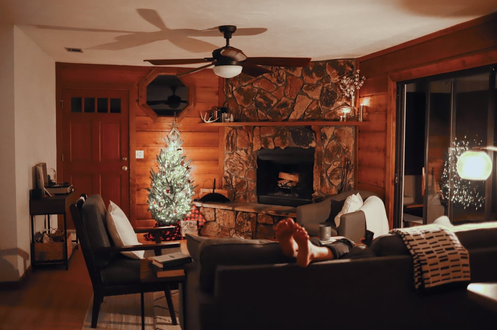 Cozy Fireplace Zoom Background