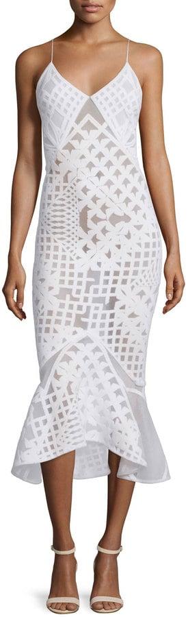 Jonathan Simkhai Sleeveless Bonded Burnout Midi Gown, White ($1,295)