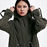 Zara Hooded Drawstring Parka