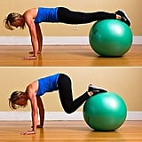 Push-Up With Tuck Crunch