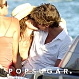 Cindy Crawford locked lips with Rande Gerber in Saint-Tropez in August 2005.