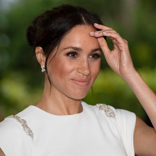 Meghan Markle Wearing Princess Diana's Aquamarine Ring