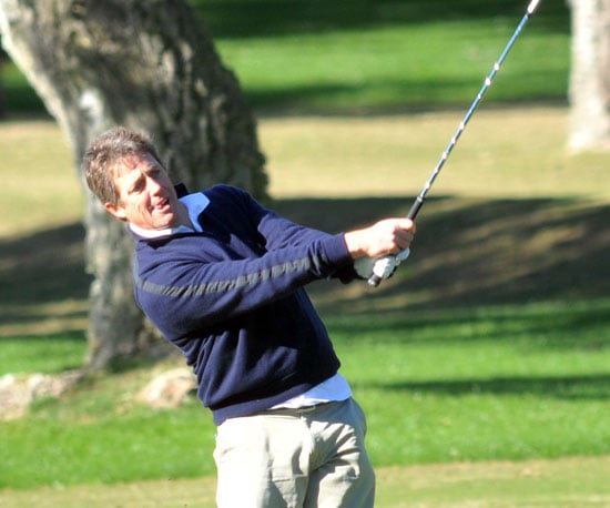 Slide Photo of Hugh Grant Golfing in Spain