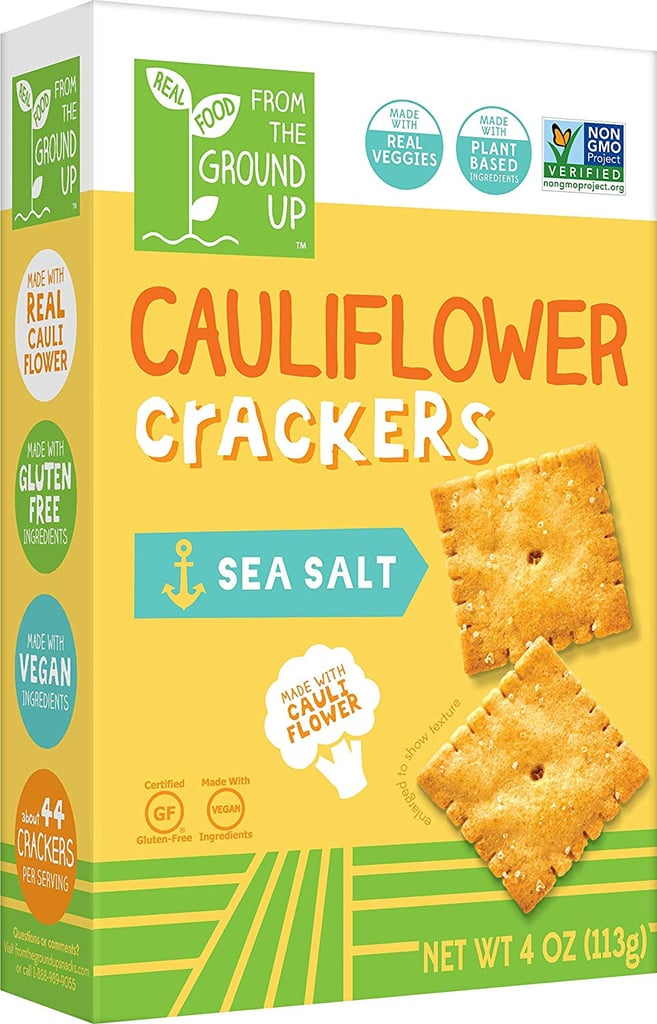 Real Food From the Ground Up Sea Salt Cauliflower Crackers