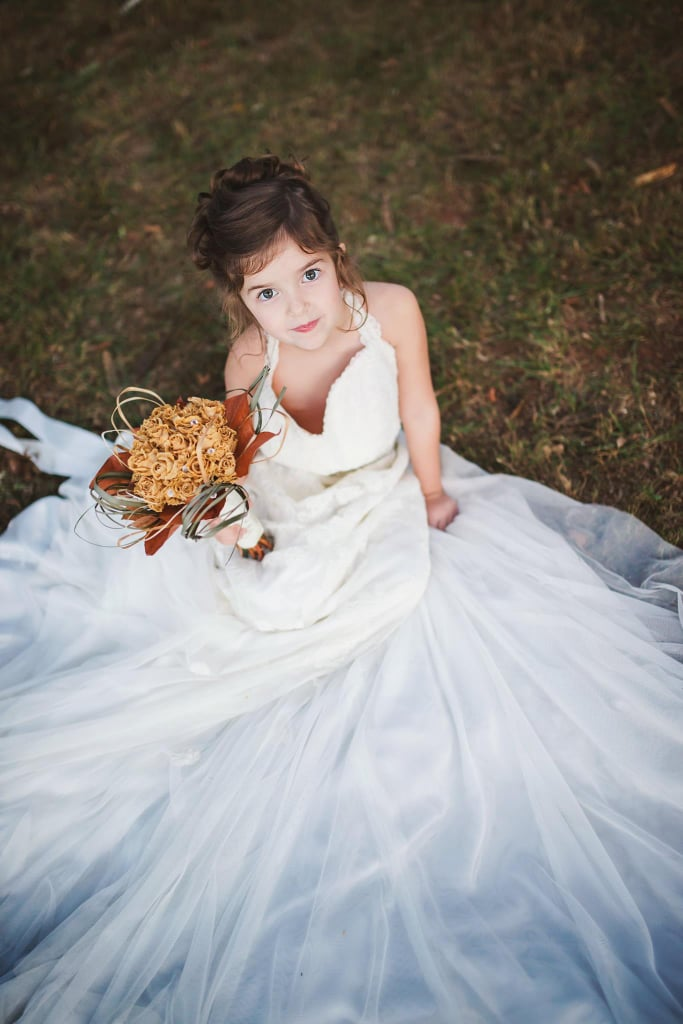 Toddler Wears Late Mom\'s Wedding Dress | POPSUGAR Family Photo 11