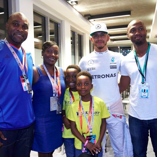 Lewis Hamilton Meets Sickle Cell Anaemic Child in Abu Dhabi