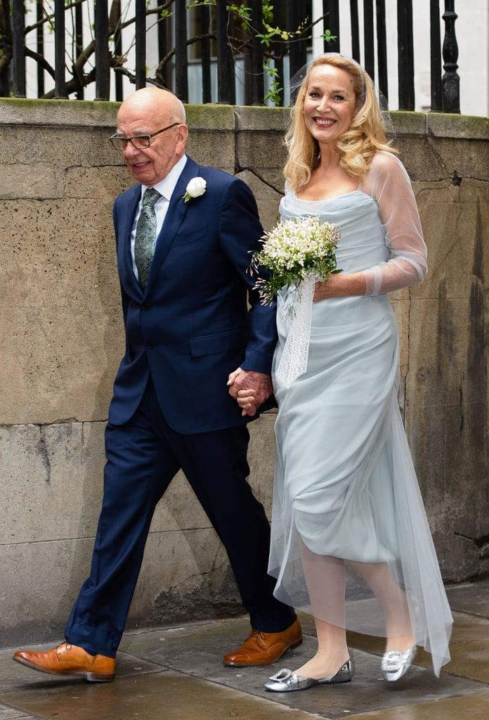 Jerry Hall's Wedding Dress at Rupert Murdoch Wedding