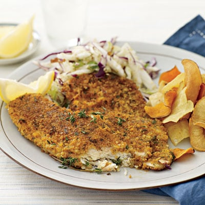 Fast & Easy Recipe For Cracker and Parmesan Crusted Fish Fillets