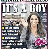 The front page of Daily Express, from England,  on July 23.