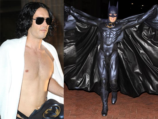 Pictures of Russell Brand as Batman With Luis Guzman as Robin in Arthur