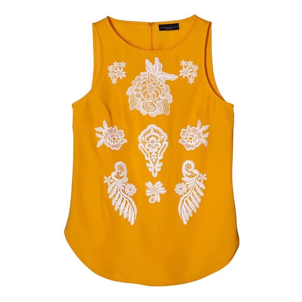 Marigold Floral Appliqué Tank Top ($26)