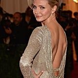 Cameron Diaz showed off the back of her Stella McCartney.