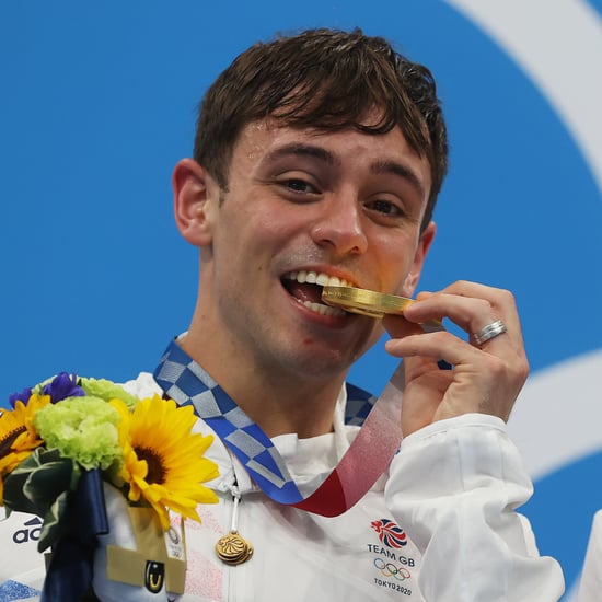 Tom Daley Crocheted a Cozy Sweater Pouch For His Gold Medal