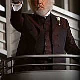Donald Sutherland as President Snow in The Hunger Games.