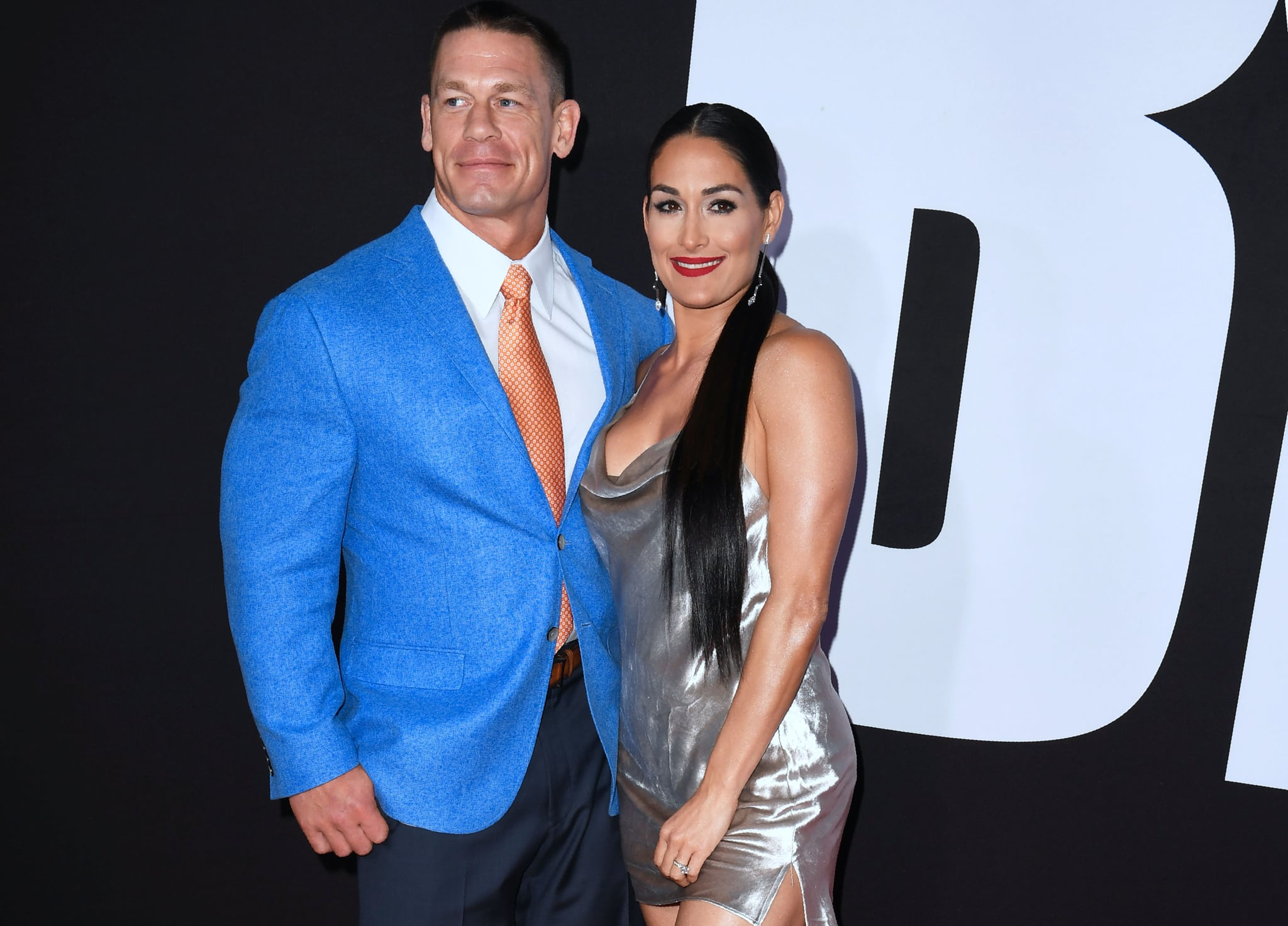 John Cena and Nikki Bella arrive for the premiere of