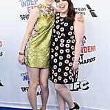 Pictured: Saoirse Ronan and Beanie Feldstein