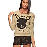 Forever 21 Bon Lapin French Terry Top