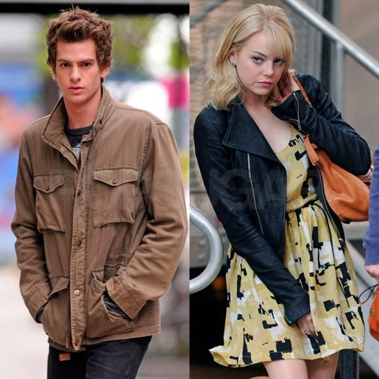 Pictures of Emma Stone and Andrew Garfield
