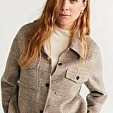 Mango Checkered Wool-Blend Jacket