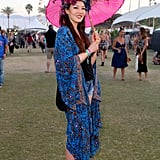 Don't be afraid to get inspired by other cultures like Catherine Ahn who wears a floral headdress from Ms G designs.