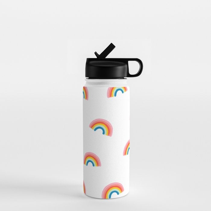 Happy Rainbow Water Bottle by jessicapatel