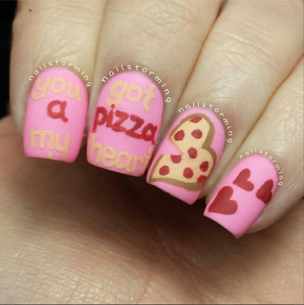 ... 100 Crush-Worthy Valentine's Day Nail Art ... - Best Valentine's Day Nail Art Of Instagram POPSUGAR Beauty