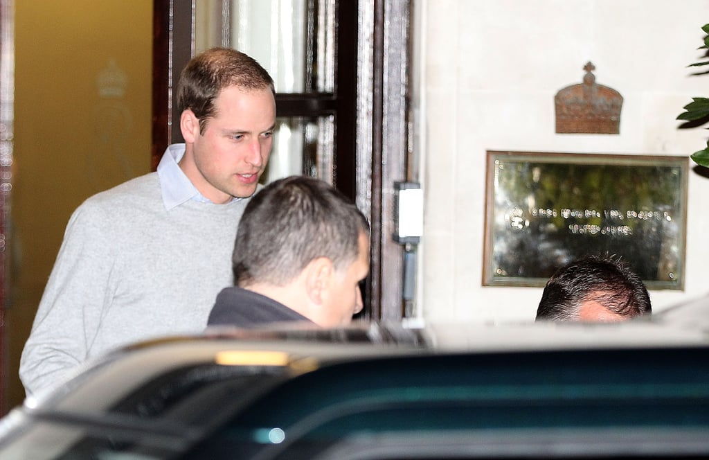 Prince William Visits Pregnant Kate Middleton in the Hospital