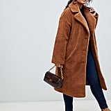 ASOS Design Curve Teddy Coat