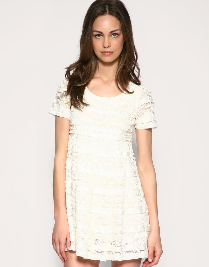 Jin-Ja Frill Lace Ribbon Dress ($43, originally $130)