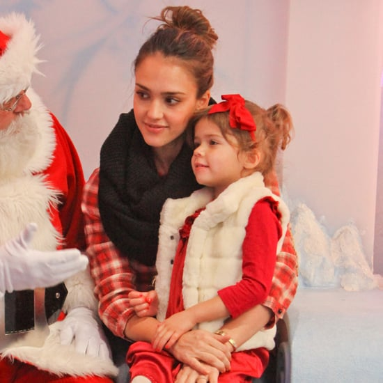 Jessica Alba and Honor With Santa Pictures