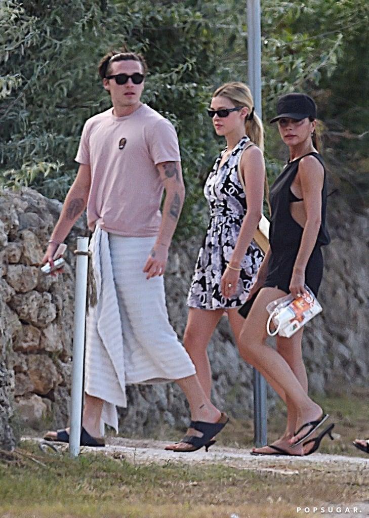 Brooklyn Beckham, Nicola Peltz, and Victoria Beckham in Puglia