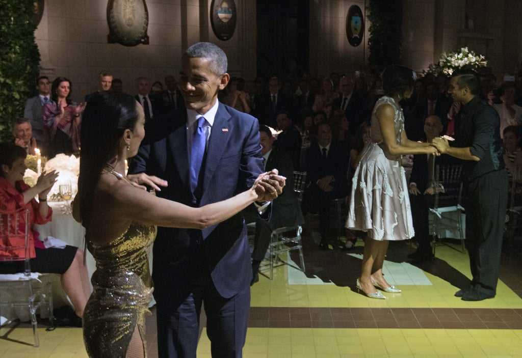 Barack and Michelle Obama Show Off Their Dance Moves While Doing the Tango in Argentina