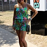 This attendee paired her Lilly Pulitzer romper with Versace shades and her grandmother's handbag.