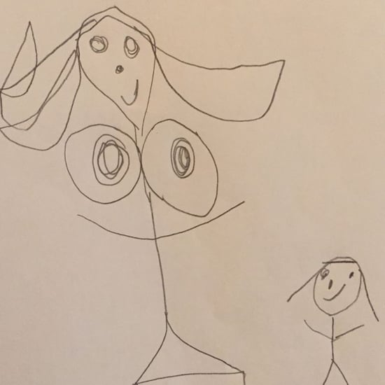 Girl's Funny Drawing of Her Mom's Boobs
