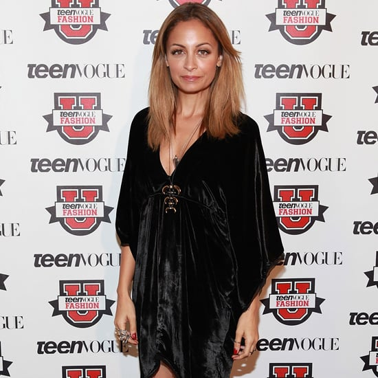 Nicole Richie Wearing Black Velvet Dress