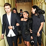 Pictured: Zoe Kravitz, Alexander Wang, and Ansel Elgort
