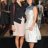 Dani Stahl and Shoshanna Lonstein Gruss joined Carolina Herrera at the designer's Fall benefit.