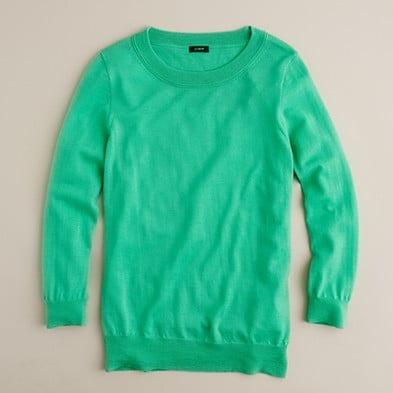 You can never have enough colorful crewneck sweaters. We're loving this vibrant minty green — a great piece for transitioning into Spring, too! J.Crew Tippi Sweater ($40, originally $73)