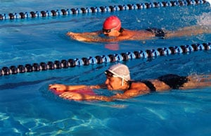 Get it up - your heart rate that is:  Swimming