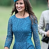 Pippa Middleton attended a wedding in Gayton with Prince William and Prince Harry.