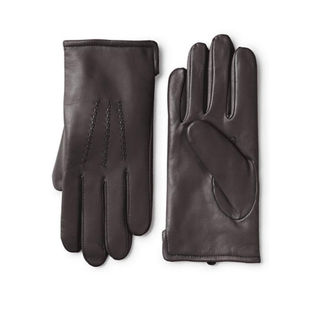 Land's End Men's Cashmere Lined Leather Gloves