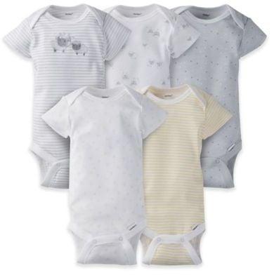 Gerber Onesies 5-Pack Lamb Short-Sleeve Bodysuits ($10)