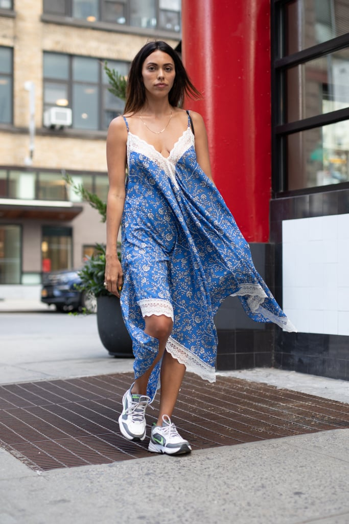 A slip dress with sneakers is so much more than a slip dress