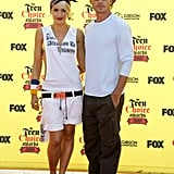 They couldn't keep their hands off each other at LA's Teen Choice Awards in August 2005.
