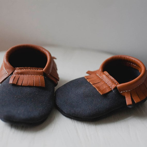 Little Tonto Leather Baby Mocs