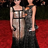 Pals Ginnifer Goodwin and Jessica Alba stuck by each other's sides in shimmery Tory Burch picks.