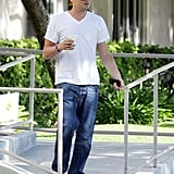 Leonardo Gets His Hair Whipping In Ahead of His Return to Work