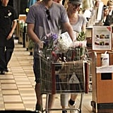 Diane Kruger and Joshua Jackson at the grocery store.