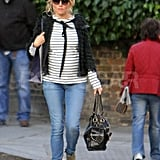 Pregnant Sienna Miller Wears Stripes For a Stylish Skin Care Commercial