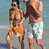 Kourtney Kardashian and Scott Disick started dating in 2007, just before the Kardashians were thrust into the national spotlight with their E! reality show, Keeping Up With the Kardashians. Their relationship soon became a key part of the series and the second season featured Kourtney confronting Scott about his alleged cheating. Scott also soon became a star in his own right thanks to his American Psycho-inspired wardrobe and borderline offensive snobby behavior.